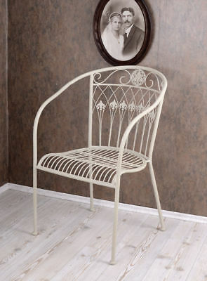 gartenstuhl shabby chic sessel antik weiss gartensessel stuhl metall eur 99 99 picclick at. Black Bedroom Furniture Sets. Home Design Ideas