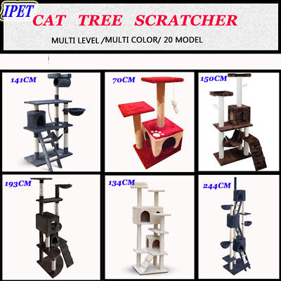 Pet Cat Tree Scratching Post Scratcher Pole Furniture Home Gym House Toy Condo