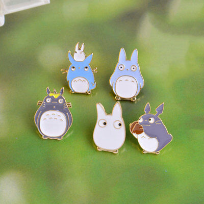 Fashion 5 Styles Cartoon Totoro Anime Cute Alloy Enamel Pins Buttons Brooch Gift