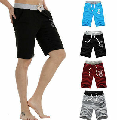 Fashion Men Summer Cotton Short Pants Gym Trousers Sport Running Trousers Casual