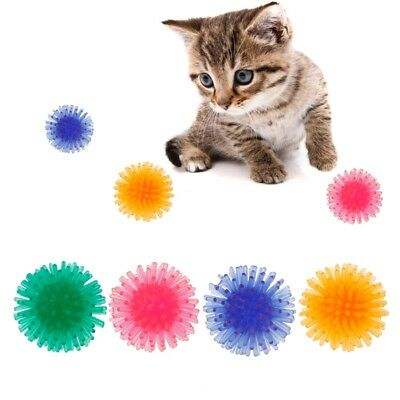2PCS Interactive Cat Toy Non-toxic Teeth Chew Ball Play Catch Exercise Toys Pet