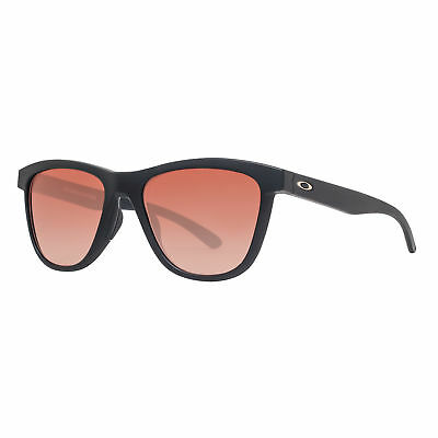 Oakley Moonlighter OO9320-02 Matte Black VR50 Brown Gradient Women's Sunglasses