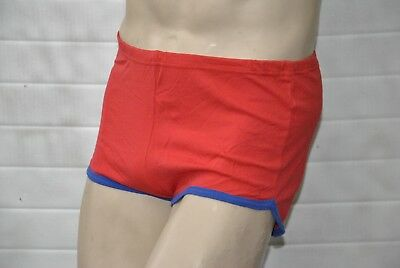VEB Oberlungwitz Badehose rot DDR swimming trunks 80s TRUE VINTAGE 80er GDR