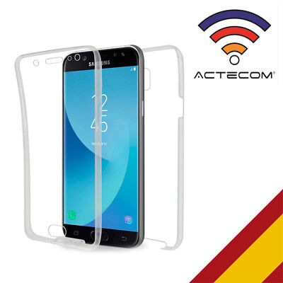 Actecom® Funda 360 Doble Gel Silicona Transparente Para Samsung Galaxy J5 2017