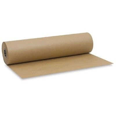 STRONG BROWN KRAFT WRAPPING PARCEL PAPER 90GSM 25M x 750mm FREE P&P