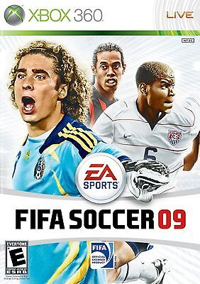 XBOX 360 Fifa Soccer 09 Video Game 2009 ea sports multiplayer co-op online fun