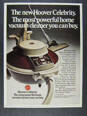 1974 Hoover Celebrity Vacuum Cleaner photo vintage print Ad
