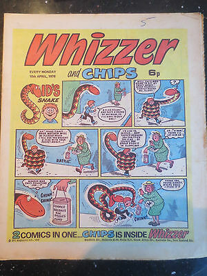 Whizzer and Chips Vintage Old UK Paper COMIC 10 April 1976 Birthday Gift