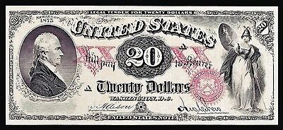 Proof Print by the BEP  Face of 1875 $20 United States Note (US Note)