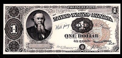 Proof Print or Intaglio by the BEP  Face of 1890 $1 One Dollar Treasury Note