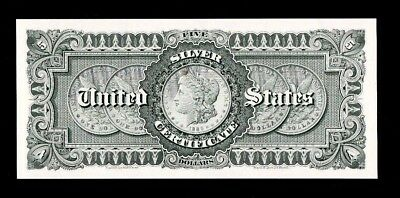 Proof Print or Intaglio by the BEP - 1886 $5 Silver Certificate