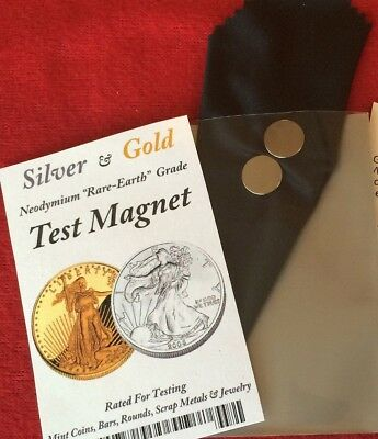 Gold & Silver Jewelry Precious Metals Recovery Type Grade 2-Pack Test Magnet Kit