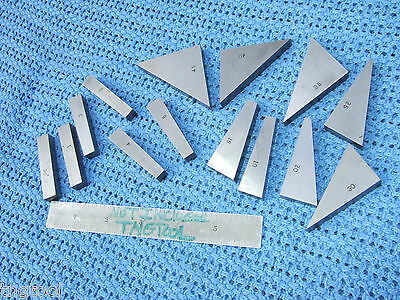 Angle Blocks 14 Flat Toolmaker Machinist Precise Grind Inspection Grind Mill Qa!