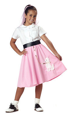 50's Poodle Skirt Grease Child Costume