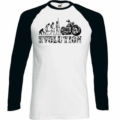 Motorbike Evolution Mens Funny Biker T-Shirt Motorcycle Indian Bike