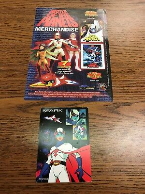 Battle Of The Planets Merchandise Flier And Rare Trading Card Gatchaman B