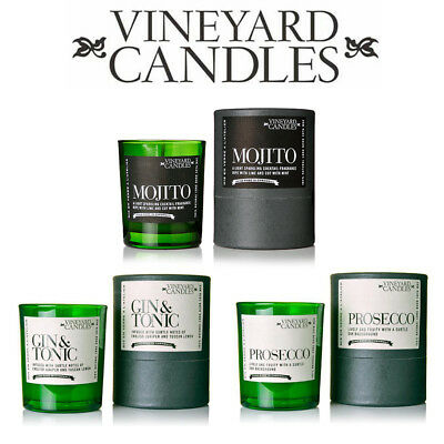 Vineyard Shot Glass Candles  Prosecco, Gin & Tonic - You Choose Free P+P