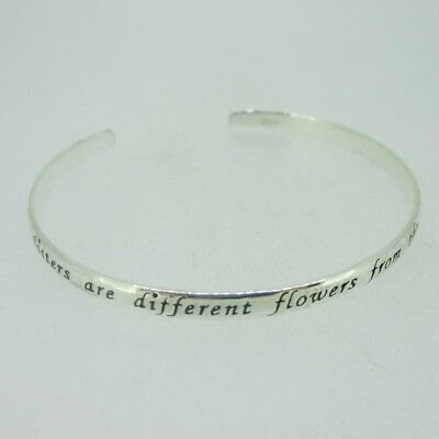 308c469f7133a STERLING SILVER INSPIRATIONAL Words Courage Faith Cuff Bracelet ...