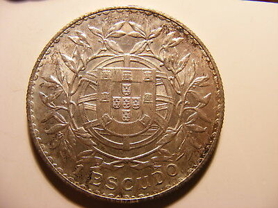 Portugal 1916 Silver 1 Escudo, UNCIRCULATED, KM#564