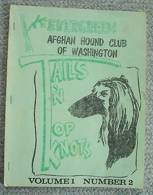1969.Tails 'n Top Knots.EVERGREEN AFGHAN HOUND CLUB  OF WASHINGTON magazine
