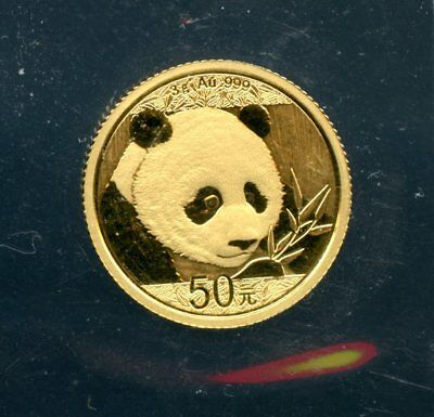 2018 3 Gram .999 Gold China 50 Yuan Gold Panda Coin Uncertified FB375