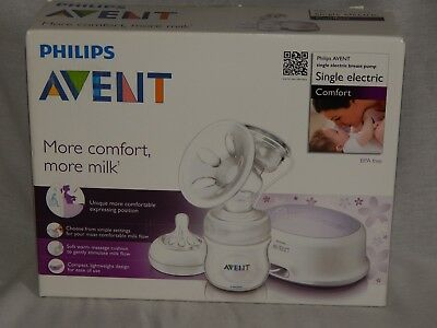 NEW in Box Philips Avent Comfort Single Electric Breast Milk Pump SCF332/01 NIB