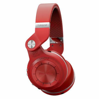 Bluedio T2S Bluetooth4.1  Headphones Wireless Stereo Mic Foldable Headset - Red
