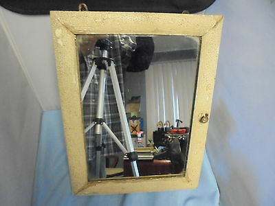 Antique Wood Surface Mount Medicine Cabinet Cupboard Mirror Shabby Chic
