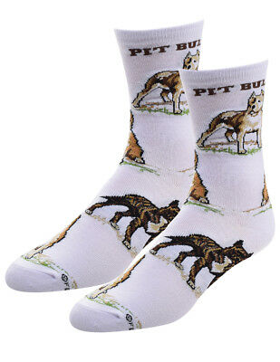 NEW Pit Bull Dog Breed Socks - One Size Women's White Acrylic Blend Canine Lover