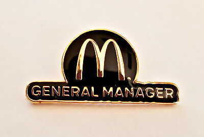 New McDonald's Lapel Pin General Manager Gold Toned