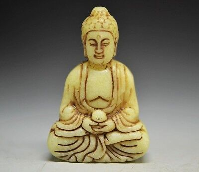 Excellent Chinese Old jade Carved *Bodhisattva* Pendant  ZM29