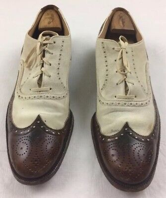 JOHN WARD MASTERSHOES vintage 40s antique leather suede spectator brogues 12?