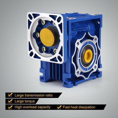 NMRV40 Worm Gear Speed Reducers for Stepping Motor Reduction Ratio 100:1 Blue ly