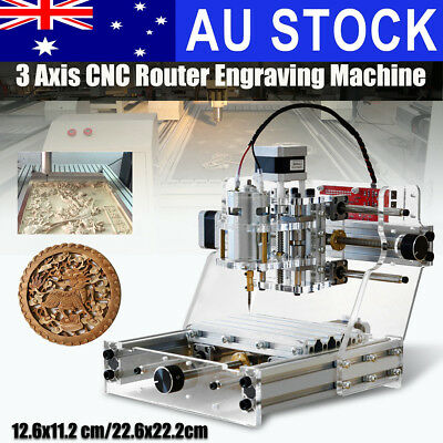 AU 2-Type 3 Axis CNC Router Engraving Machine DIY Engraver Cutter Carver Cutting