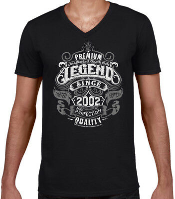 Premium Legend Since 2002 16th Birthday Mens Funny T Shirt 16 Year Old Top Gift
