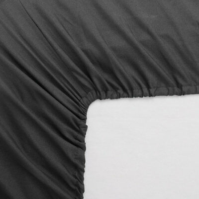 100%Cotton Fitted Sheet Thick Jersey Queen Twin King Full Size