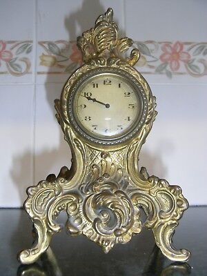 Early 20th Century Louis XV Style Gilt Brass Mantle Clock