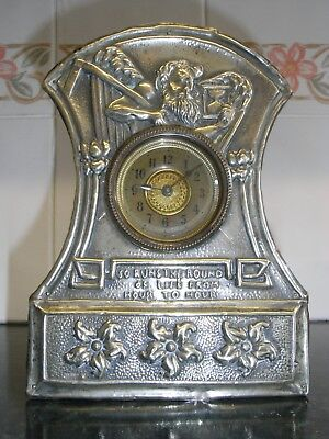 Edwardian Arts and Crafts Style Mantle Clock