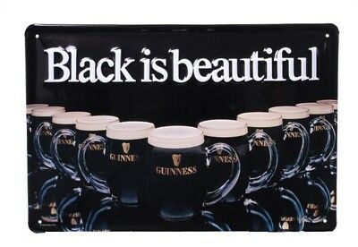 Wall Decor - Guinness Black is beautiful - Retro Metal Sign