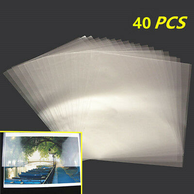 40Pcs Transparent A4 Double Sided Acrylic Adhesive Tape Sheet Clear DIY Craft