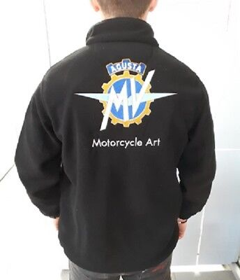 MV Agusta 1/4 Zip Fleece Embroidered Motorcycle Art Logo's for Brutale F3 F4