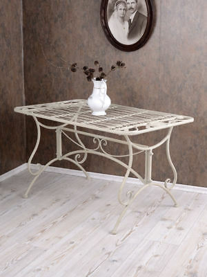 Meuble De Jardin Table De Jardin Blanc Table Shabby Chic Metal
