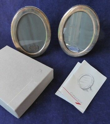 A pair of boxed 1991 Concorde solid silver photo frames ##gaBEL67BS
