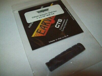 """NEW - Earvana Compensated 1-11/16"""" Nut For Gibson Acoustic, Wound 3rd, BLACK"""
