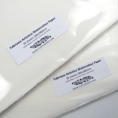 Fabriano Traditional White Artistico CP NOT Watercolour Paper 380x280mm 20 Sheet