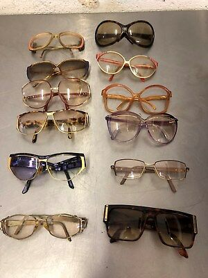 NICE LOT OF 12 VINTAGE DESIGNER EYEGLASS FRAMES DIOR, CAZAL, KAHNH, DFV and MORE