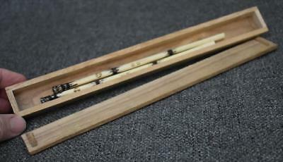 Rare Antique Japanese Femur Bone Chopsticks In Original Box