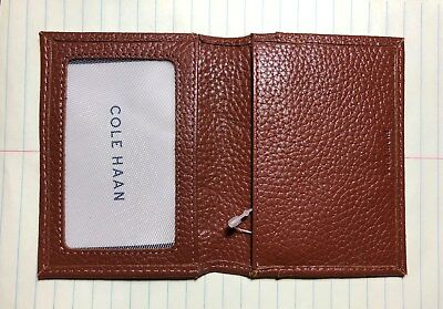NWT Cole Haan Brown ID Card Wallet NEW Holder - Free US Shipping