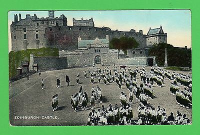 Vintage postcard. Edinburgh Castle