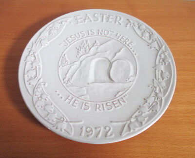 "Frankoma Display Plate 1972 Easter Oral Roberts Association 7 1/4"" White Sand"